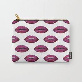 Lip pattern lip sync art print pattern Carry-All Pouch