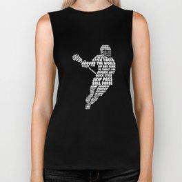 Men's Lacrosse Figure Funny Graphic T-shirt XL Navy Biker Tank