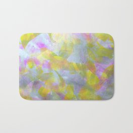 Abstract in Shimmery Pastel Colors Bath Mat