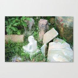 stone carving workshop Canvas Print