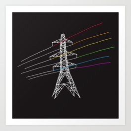 The Dark Side of Electricity Art Print