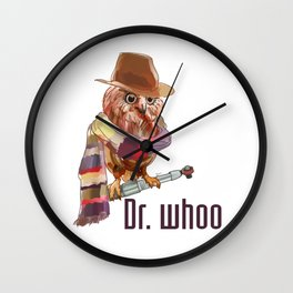 Dr. Who Owl Wall Clock