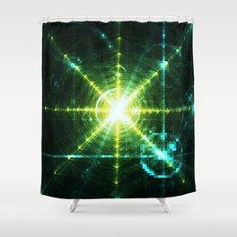 Pyramid Pixel Punk Shower Curtain
