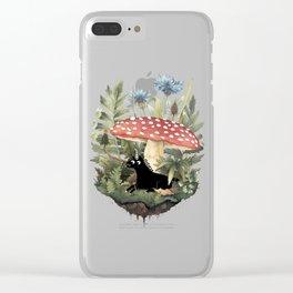 Tiny Unicorn Clear iPhone Case