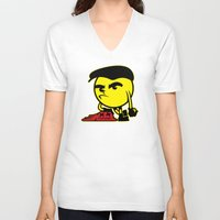 pac man V-neck T-shirts featuring Pac-Man by La Manette