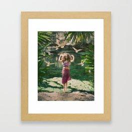 Cenote Free Framed Art Print
