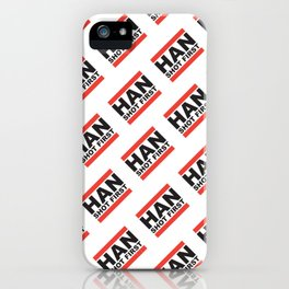 Han Shot First Pattern iPhone Case