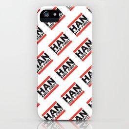 Han Shot First Pattern iPhone Case