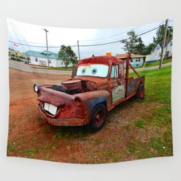 Tribute Build to Tow Mater Wall Tapestry