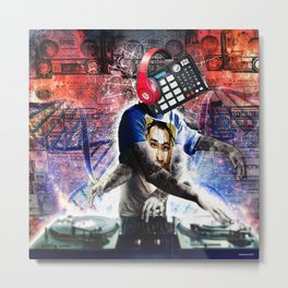 The DJ Metal Print