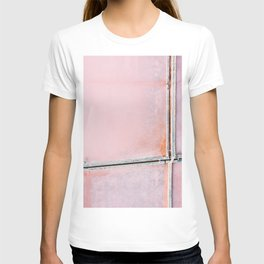 Pink Salt Lake from above in Italy – Landscape Photography T-shirt