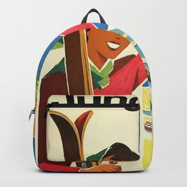 Classic Vintage Travel Poster Backpack