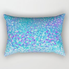 Turquoise fiesta dots Rectangular Pillow