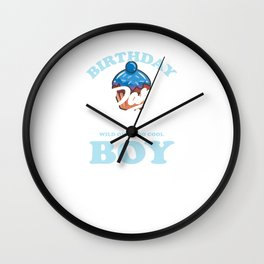 Cool Birthday Boy It's Party Time Wall Clock