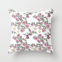 Project 52 | Pale Roses on White Throw Pillow