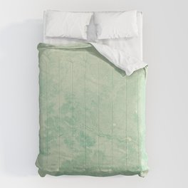 Indian Foliage Map - Cyan Blue Cream Comforters