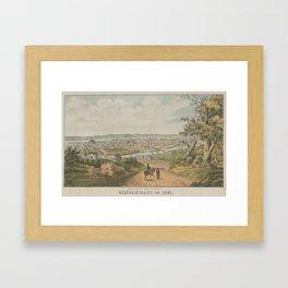 Vintage Pictorial Map of Cincinnati OH (1841) Framed Art Print