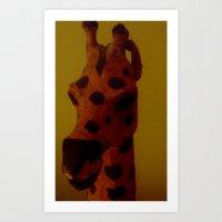 Still life giraffe Art Print