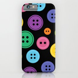 Colorful Rainbow Buttons iPhone Case