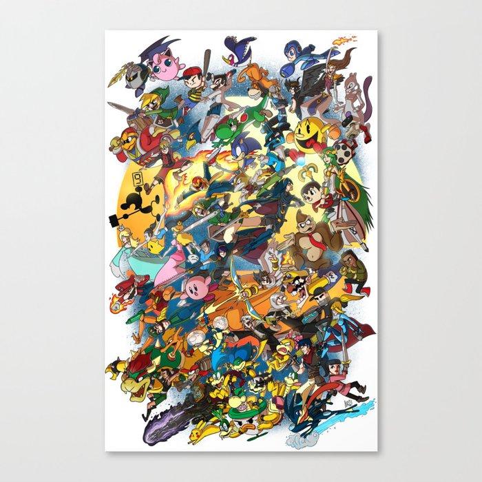 Super Smash Bros! Canvas Print