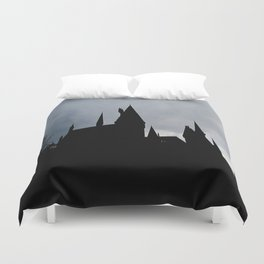 Black Castle Duvet Cover