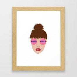 I See the Good Vibes Framed Art Print