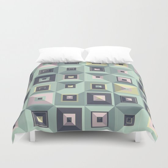 Lost in Squares III Duvet Cover