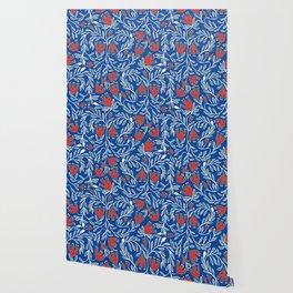 swedish christmas blue Wallpaper