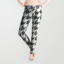 Black and white houndstooth pattern Leggings