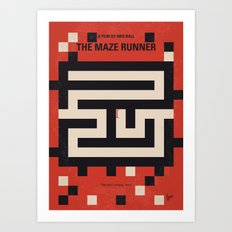 No837 My The Maze Runner minimal movie poster Art Print