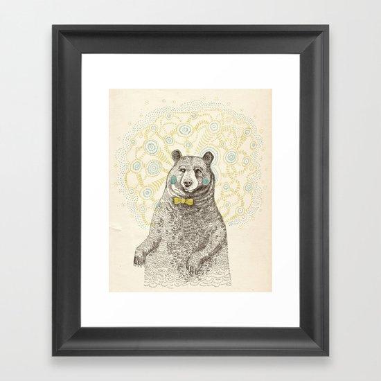 Smarter than the average bear Framed Art Print