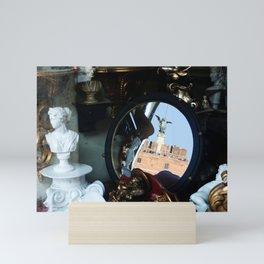 Mirrored St Angel Castle Rome Mini Art Print