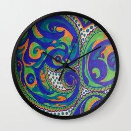 PAISLEY SWIRLS Wall Clock