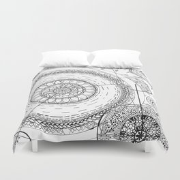 Movement of the Spheres 01 Duvet Cover