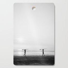 Surfer couple | Wanderlust photography of surfer couple | Coastal wall art. Cutting Board
