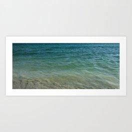ocean at shore Art Print