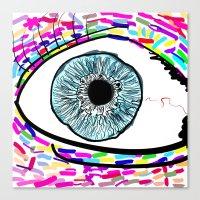 iris Canvas Prints featuring Iris by Beyond Infinite