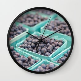 Blueberries on Saturday Morning Wall Clock