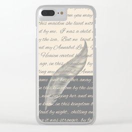ANNABEL LEE (Allan Poe) Clear iPhone Case