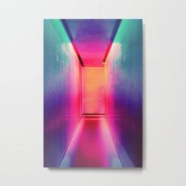 Neon Hallway Metal Print