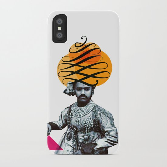 Lettering is a Maharaja's turban iPhone Case