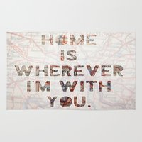 ohio Area & Throw Rugs featuring HOME (Ohio) by Madison Daniels