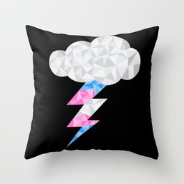 Transgender Storm Cloud Throw Pillow
