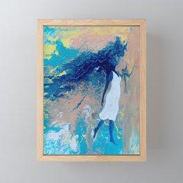 Acrylic Pour Feminist Art Framed Mini Art Print
