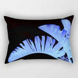 Neon Glow Tropical Palm Fronds Rectangular Pillow