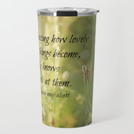 Lovely Louisa May Alcott  Travel Mug