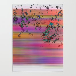 rainbow with 3d splashes Poster