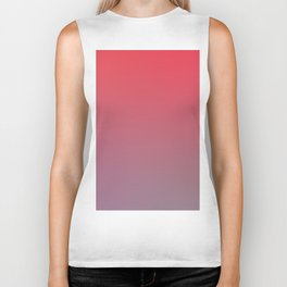 EVENING - Minimal Plain Soft Mood Color Blend Prints Biker Tank