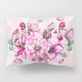 Pretty Pink Flutterbies Pillow Sham