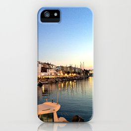 Ciutadella Harbor iPhone Case